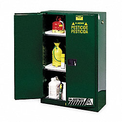 Cabinet, Pesticide, Green, 45 Gallon