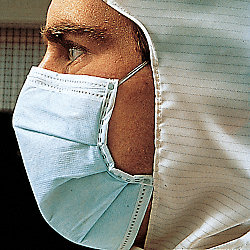 Cleanroom Mask, Blue, PK 50