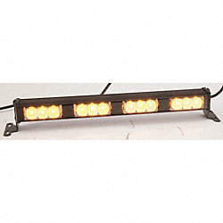 Quad Lighthead, LED, Amber, Rect, 14-9/16 L