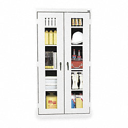 5S Storage Cabinet, Welded, White