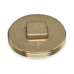 Cleanout Plug, 2.5 In, Brass