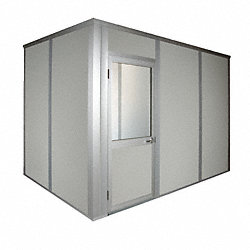 Modular InPlant Office, 4-Wall, 8x10, Steel