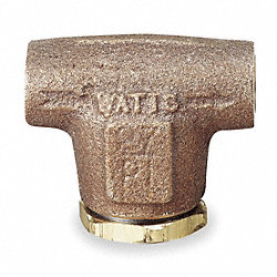 V Type Strainer, 1/2 In, FNPT, Bronze