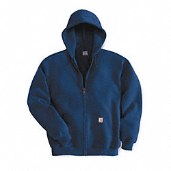 Hooded Swtshrt, Navy, 50% Cotton/50% PET, L