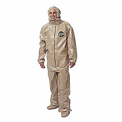 Hooded Zytron(R) 300, Tan, Elastic, 4XL