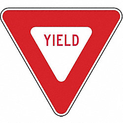 Traffic Sign, 12 x 12In, R/WHT, Yield, R1-2