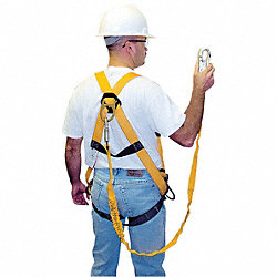 Full Body Harness, Universal, 400 lb, Black