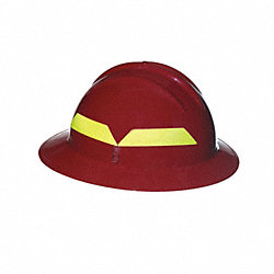 Fire Helmet, Red, Full-Brim