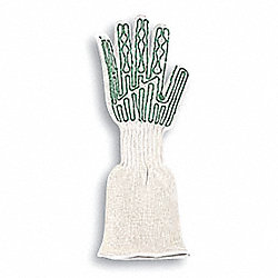 Cut Resistant Glove, Right Hand, White, M