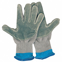 Cut Resistant Glove, Left Hand, Gray, M