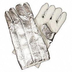 Heat Resist. Gloves, Aluminized, Z-Flex, PR