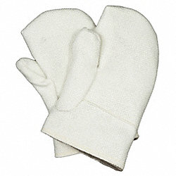 Heat Resist. Gloves, White, Double Palm, PR