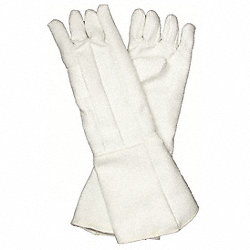 Heat Resistant Gloves, White, Zetex, PR