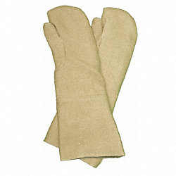 Heat Resistant Gloves, Tan, Double Palm, PR