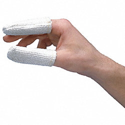 Heat Resistant Finger Cots, White, PK 12