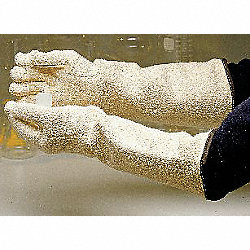 Heat Resist Gloves, White, Terry Cloth, PR