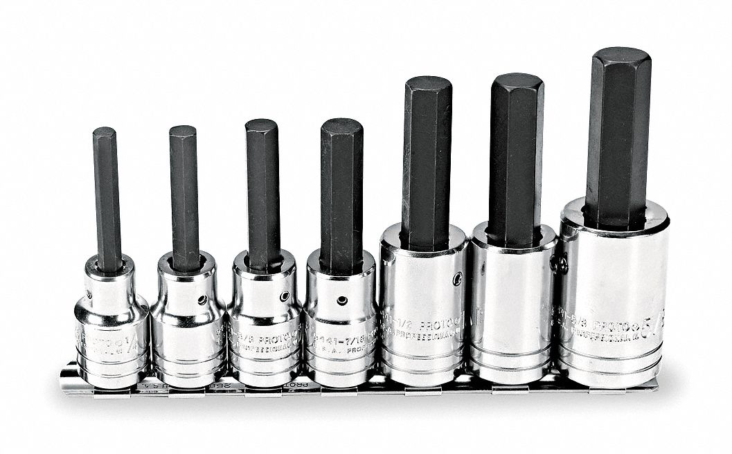 PROTO Hex Bit Socket Set, 1/2Dr, 7 Pc by Proto J5441-7 at Sears.com