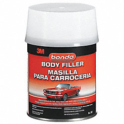 Body Filler W Hardener, Paste, 1 Qt, Gray