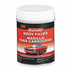 Body Filler W Hardener, Paste, 1 Gal, Gray