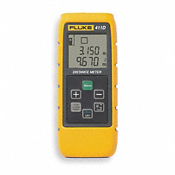 Laser Distance Meter w/Case, 100 Ft