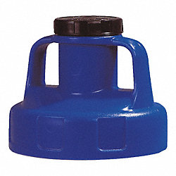 Utility Lid, w/2 In Outlet, HDPE, Blue