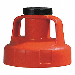 Utility Lid, w/2 In Outlet, HDPE, Orange