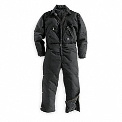 Coverall, Chest 52In., Black