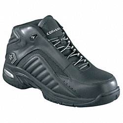 Athltc Work Shoe, Elastomr, Mn, 10, Blk, 1PR