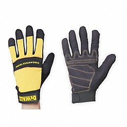 Mechanics Gloves, Yellow/Black, L, PR
