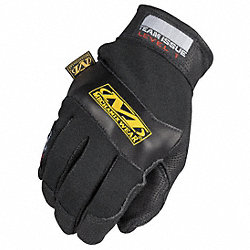 Fire Retardant Gloves, 2XL, Black, PR