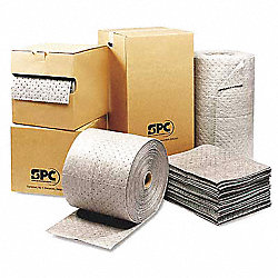 Absorbent Roll, Gray, 38 gal., 30 In. W