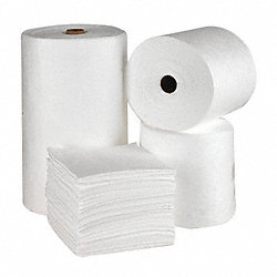 Absorbent Roll, White, 62 gal., 32 In. W
