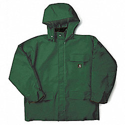 Rain Jacket w/ Detachable Hood, Green, XL