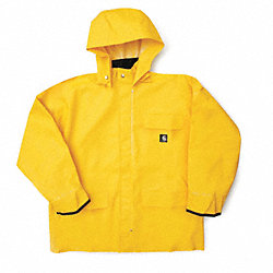 Rain Jacket w/ Detachable Hood, Yellow, S