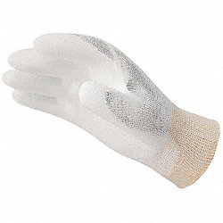 Coated Gloves, M, White, PR
