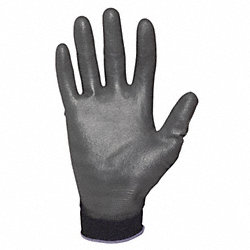 Coated Gloves, S, Black, Knit Wrist, PR
