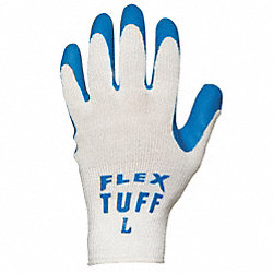 Coated Gloves, XL, Blue/White, PR