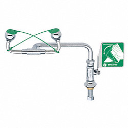 Eyewash, Deck Mount, 15 W, 11-1/2 D