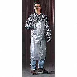 Coat Apron, Silver, 43 In. L