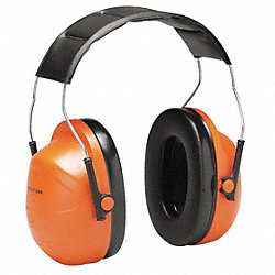 Ear Muff, 24dB, Headband, Orange