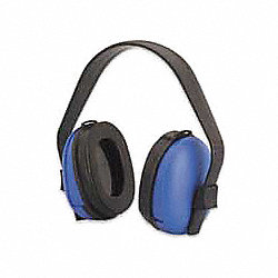 Ear Muff, 23dB, Over-the-Head, Black/Blue