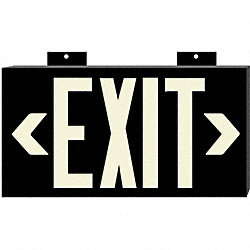 Exit Sign, 8 x 15In, WHT/BK, Exit, ENG, SURF