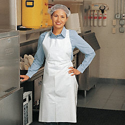 Disposable Apron, Blue, 55 In. L, PK 100