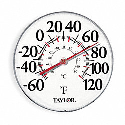 Analog Thermometer, -60 to 120 Degree F