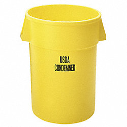 Round Container w/Imprint, 32 G, Yellow