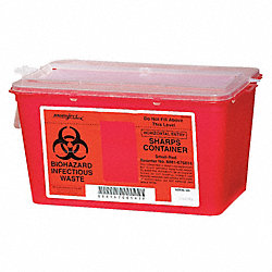 Sharps Container, 1 Gal., Chimney Top, PK5