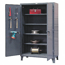 Pegboard Storage Cabinet, Dark Gray