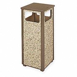 Waste Receptacle, Flat Top, 12 G, Brown