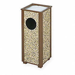 Ash & Waste Trash Container, Brown