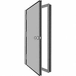 Security Door, Hand Left, 85 7/16x48 5/8